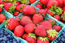 Containers Of Fresh Berries At...