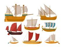 Sail Boat Vector. Isolated Sai...