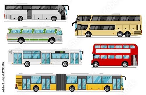 Valokuvatapetti Passenger bus set