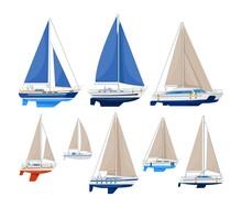 Sail Vessel. Modern Sailboat V...