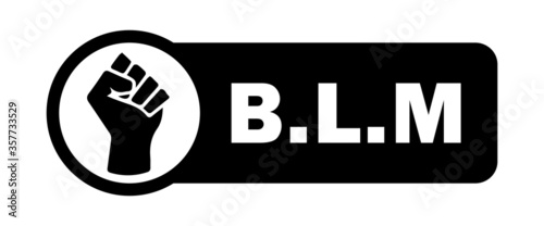 Photo BLM Fist Tag