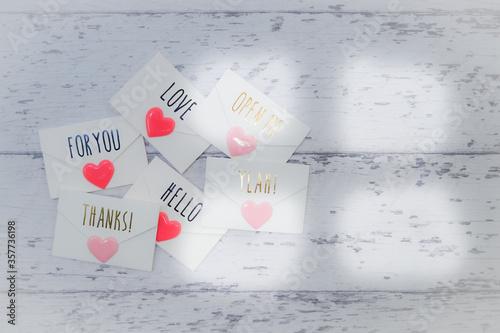 床に置かれたラブレター Canvas Print