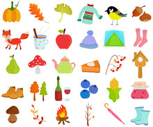 Vector Of Autumn Fall Season S...