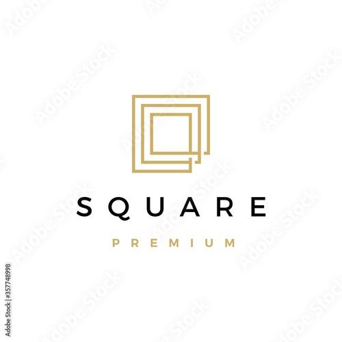 Fotografie, Obraz square logo vector icon illustration