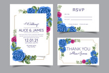 Rose Wedding Invitation Suite,...