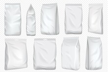 Foil Bag. Vector Plastic Pack ...