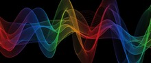 Abstract Rainbow Light Wave F...