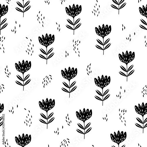 Seamless floral pattern based on traditional folk art ornaments Slika na platnu