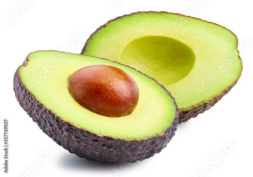 Cuadros en Lienzo Fresh avocado isolated on white background