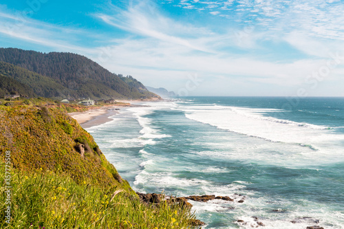 Photo Pacific ocean from Brays Point, Oregon, USA