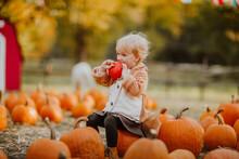 Cute Toddler Girl In Fox Coat ...