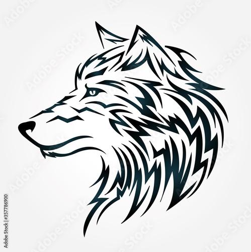 Fototapety, obrazy: Wolf Tribal