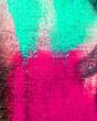 Leinwanddruck Bild - Fragment of colorful graffiti background.