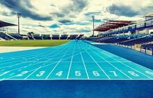 Athletics Soccer Stadium And T...