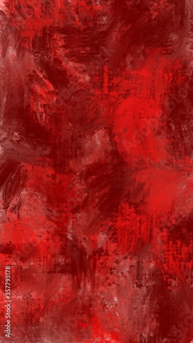 Obraz Red abstract background. Grunge style. Backdrop for design. Wall surface. - fototapety do salonu