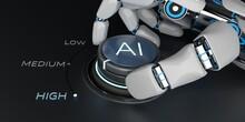 Robot Hand Control Knob AI Hig...
