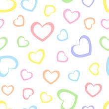Rainbow Seamless Hearts Patter...