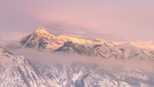 Panorama Frame Snowy Wasatch M...