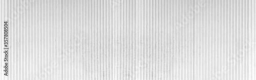 Obraz Panorama of White Corrugated metal texture surface or galvanize steel background - fototapety do salonu