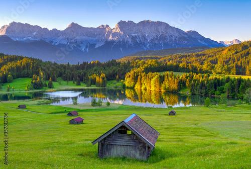 Obraz Geroldsee mit Karwendel, Bayern, Deutschland - fototapety do salonu