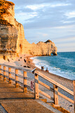 Falaise d'Amont Etretat City Normandy France Europe , digitally created image