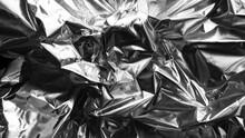 Crumpled Silver Foil