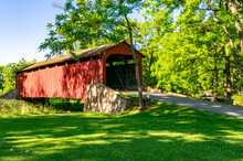 Historic Poole Forge Covered Bridge In Lancaster County PA