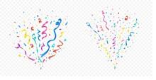 Confetti Explosion Set On Tran...