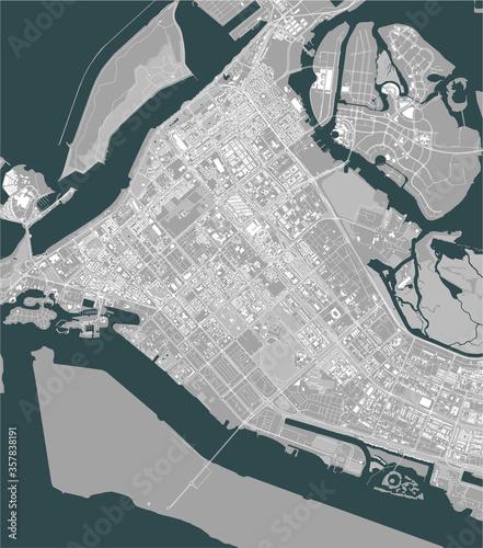 Photo map of the city of Abu Dhabi, UAE