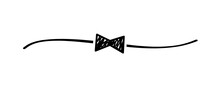 Hand Drawn Shape Bow Tie With ...