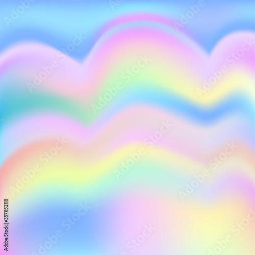 Fototapety, obrazy: Rainbow princess background. Fantasy unicorn sky pearlescent backdrop. Bright vector design.