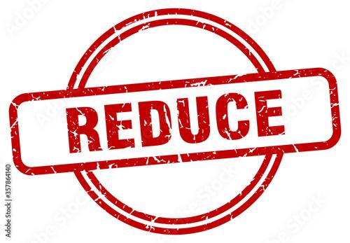 Obraz na plátně reduce grunge stamp. reduce round vintage stamp