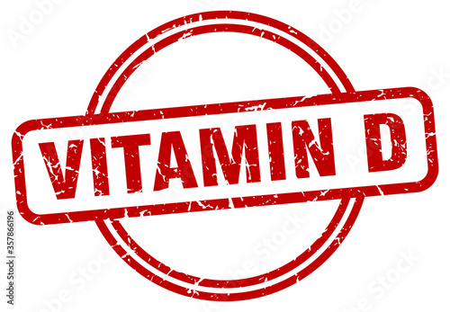 Fototapeta vitamin d grunge stamp. vitamin d round vintage stamp obraz