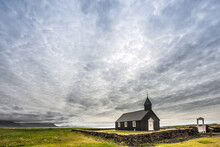 Budir Church In Iceland With A...
