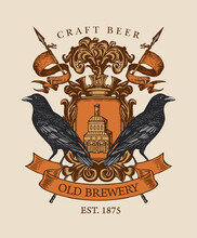 Old Brewery Coat Of Arms In Vi...