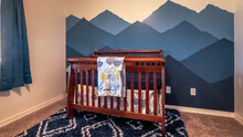 Panorama Bedroom Interior With...