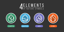 4 Elements Of Nature Symbols E...