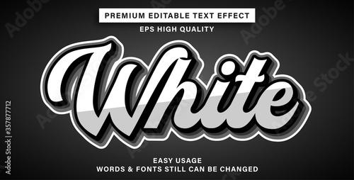 Fototapeta Editable text effect white obraz