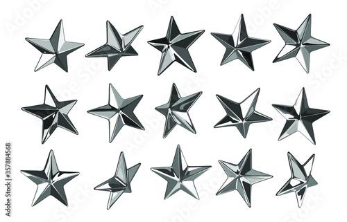 Obraz na plátně Vector punk star studs