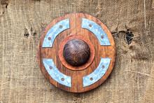 Round Wooden Shield.