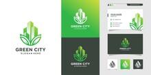 Green City Logo Anda Business ...
