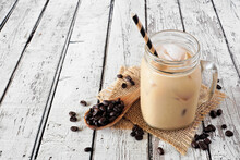 Cold Summer Iced Coffee In A M...
