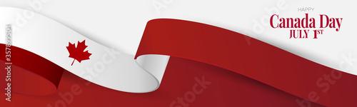 Obraz na płótnie Canada day banner or header background