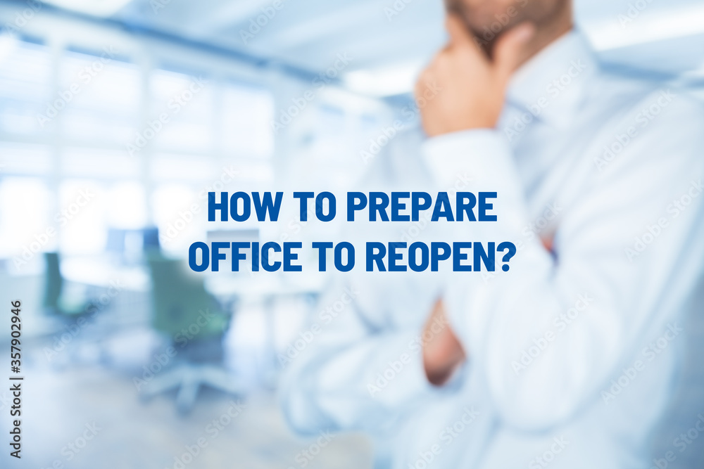 Fototapeta How to prepare office to reopening after covid-19 quarantine