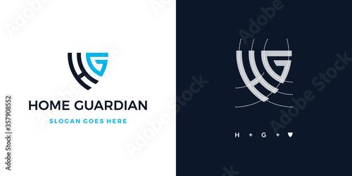 Obraz na plátně Home guardian insurance logo symbol icon design vector
