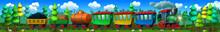 Cartoon Steam Locomotive With ...