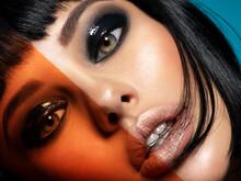 Glamour Fashion Model With Bla...