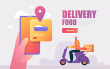 Food Delivery Service. Mobile ...