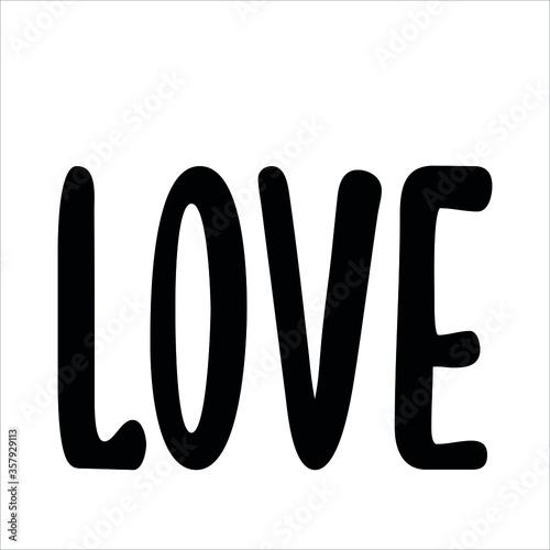 Cuadros en Lienzo Love calligraphy quote simple positive message