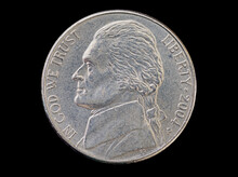 US Nickel Coin Head